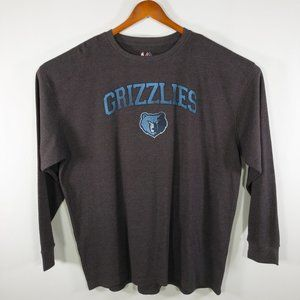 Memphis Grizzlies Grey Thermal Long Sleeve T-Shirt